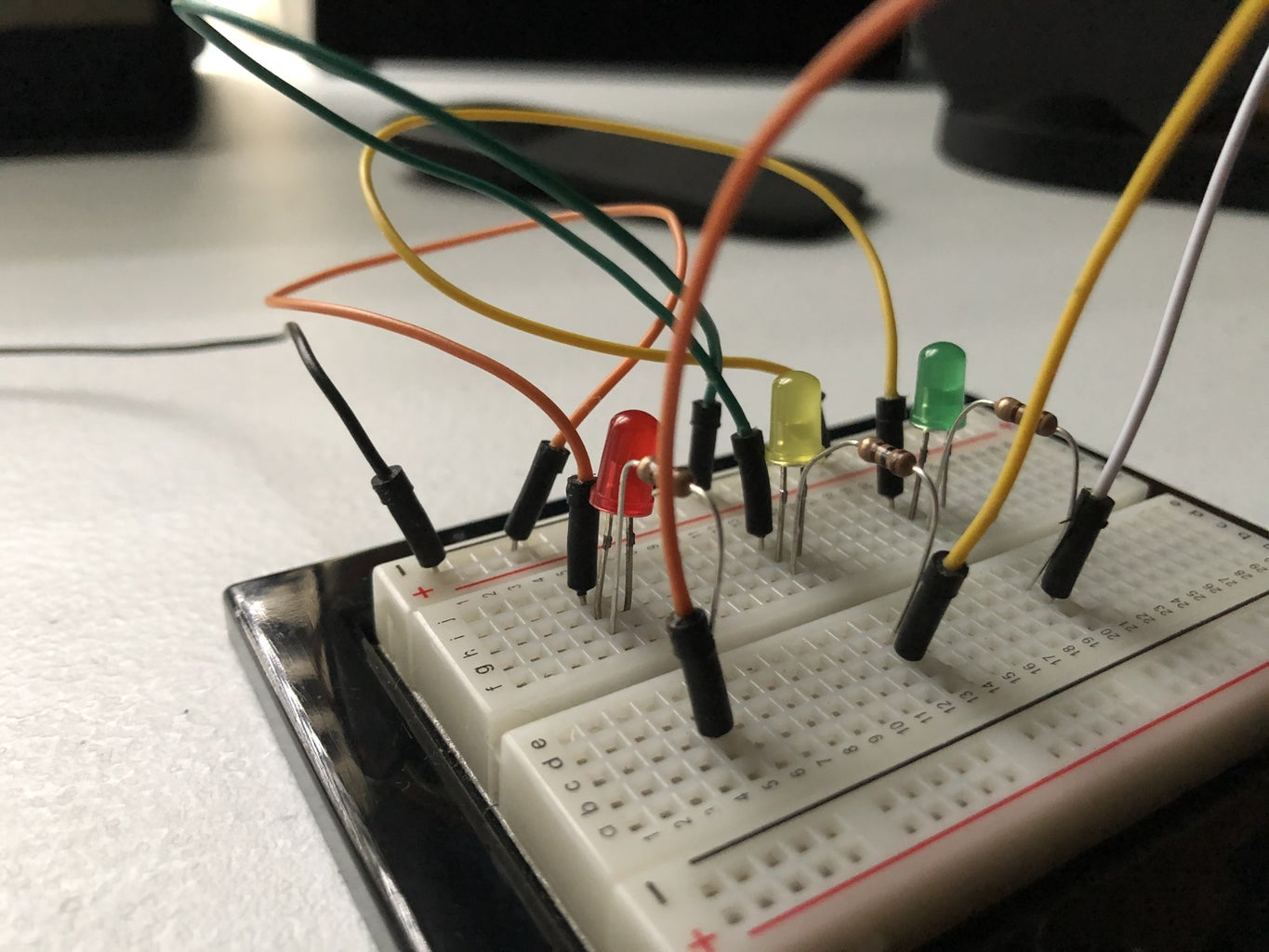 Connect Jumper Wires to Resistors