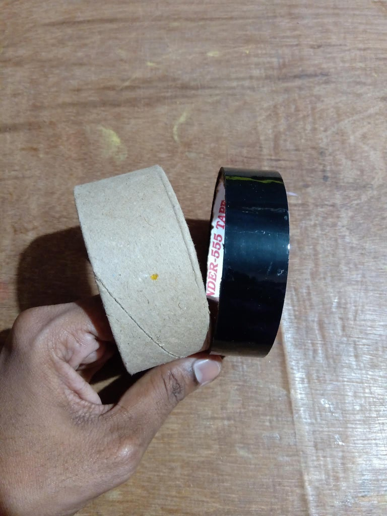 Colour Palette : Hollow Cardboard Cylinder, to Hold the Base Cardboard in Hands!