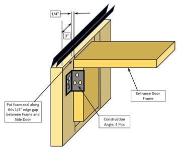 Building the Front Entrance Door Frame
