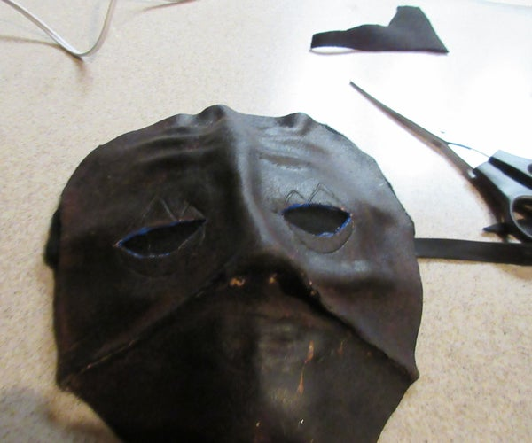 Making a Full Faced Leather Mask