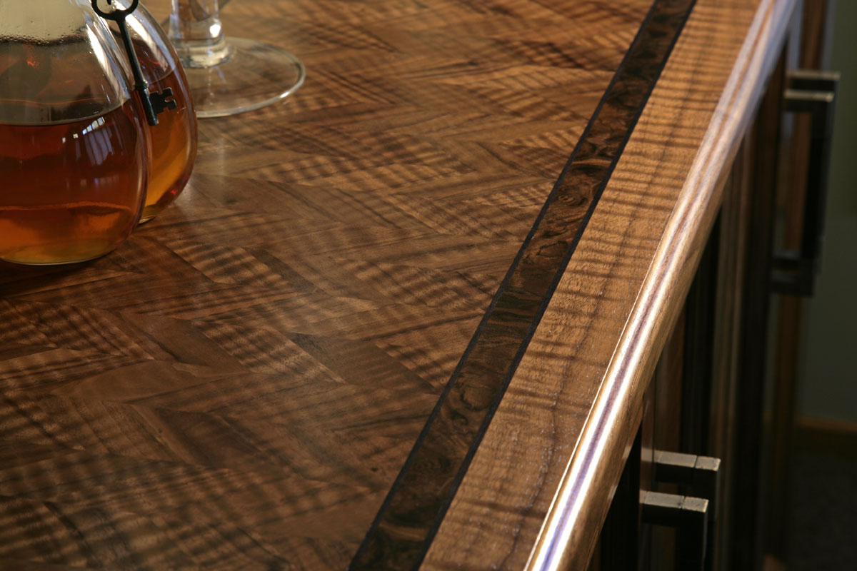 Chevron Veneer Table