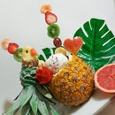 Tropical Parrot With Pineapple (fruit Salad)