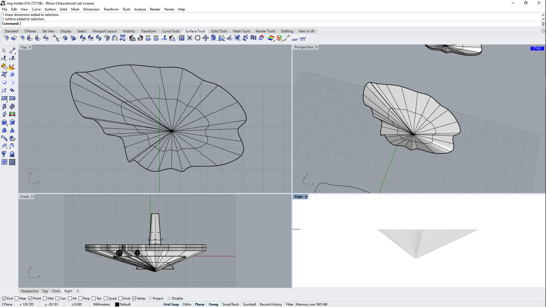 Extrude Curve to Point