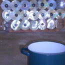 flat & portable solar oven (with CDs) - Horno solar plano y transportable (usando CDs como espejos)