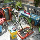 Bike Generator Patio Furniture Made from Recycled Materials w/ Voltage Regulated Battery Charging System