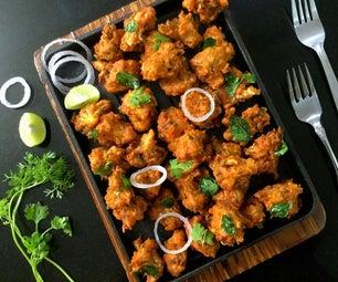 素食主义者和无麸质辣戈壁kurkuri /薯条