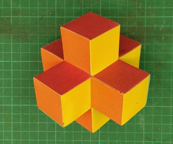 Colored 3D Paper Cross