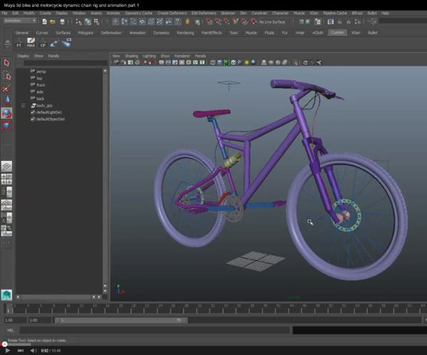 Simulate the Mechanism of a Transmission Chain for Cycles and Motorcycles With Autodesk Maya 2015  ITA