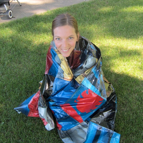 DIY Emergency Blanket From Old Party Balloons