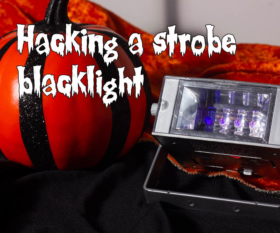 Hacking a Strobe Blacklight for Steady-On and External Control