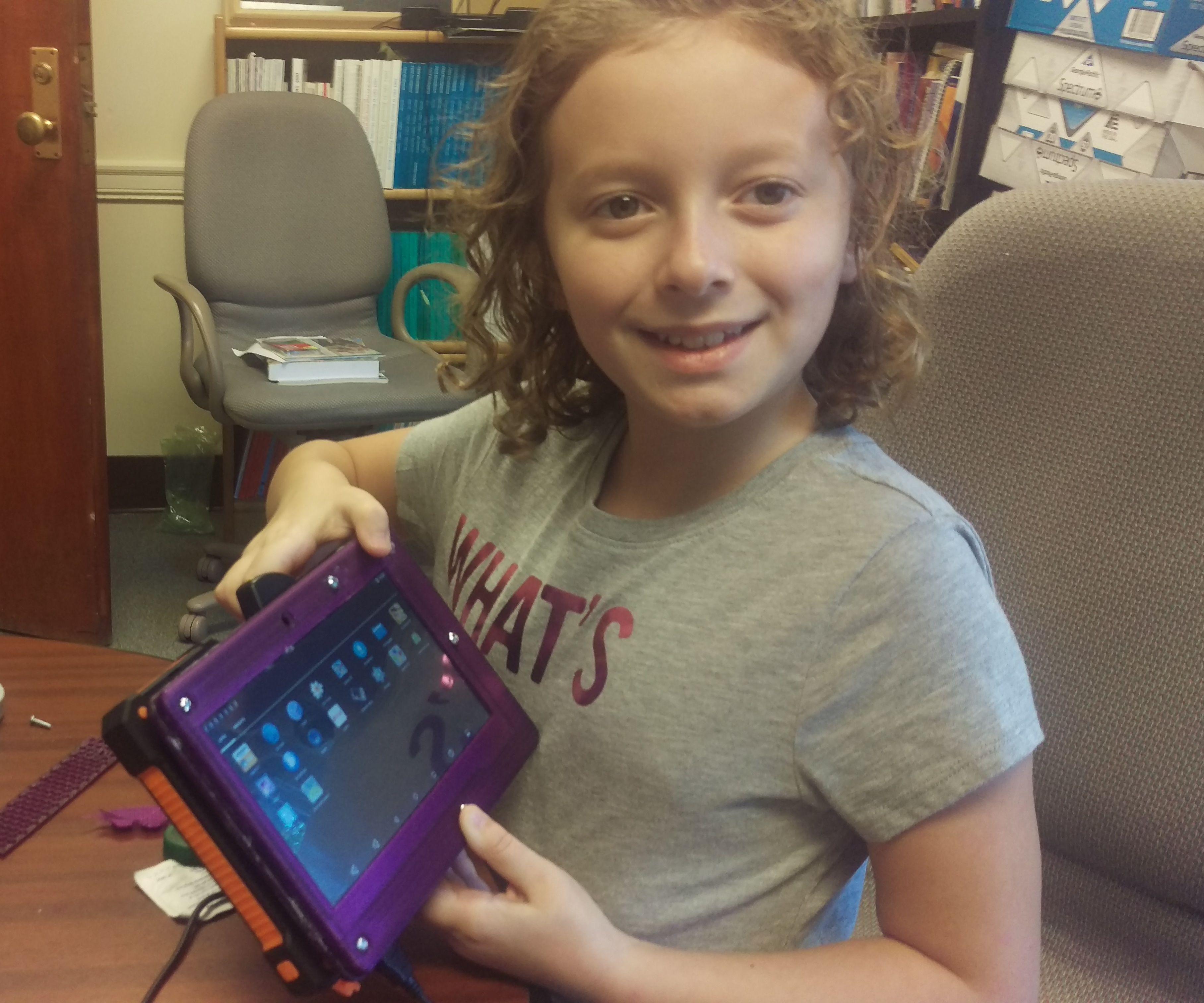 """odroid c2 vu-7"""" """"Frankentab"""" android tablet for kids"""