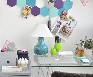 DIY Honeycomb Pin Board