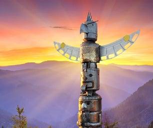 Steel Pacific Northwest Totem Pole