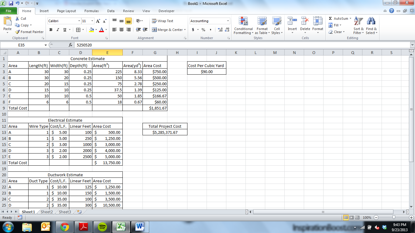 Using Excel's Basic Formula Functions to Create an Project ...