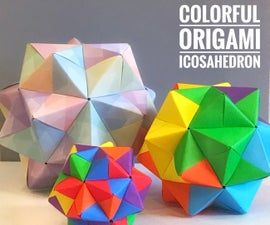 Colorful Origami Icosahedron