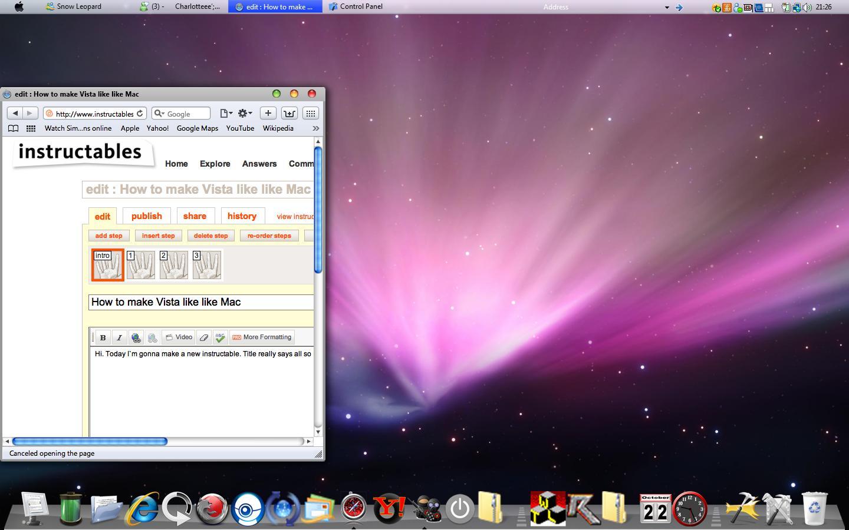 How to make Vista look like Mac