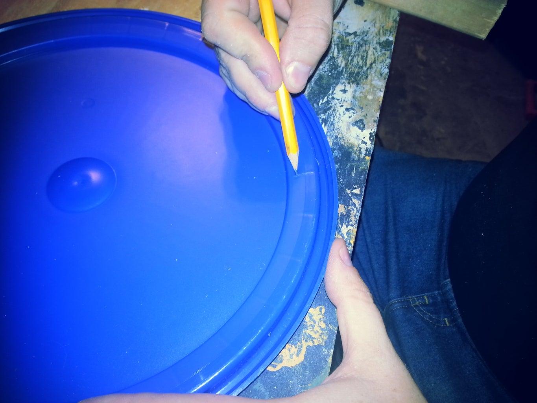 Marking the Bucket Lid