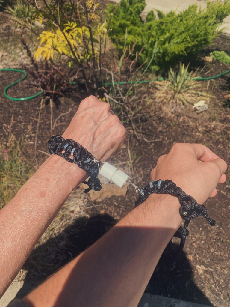 Magnetic Connection Bracelets Made From Household Items