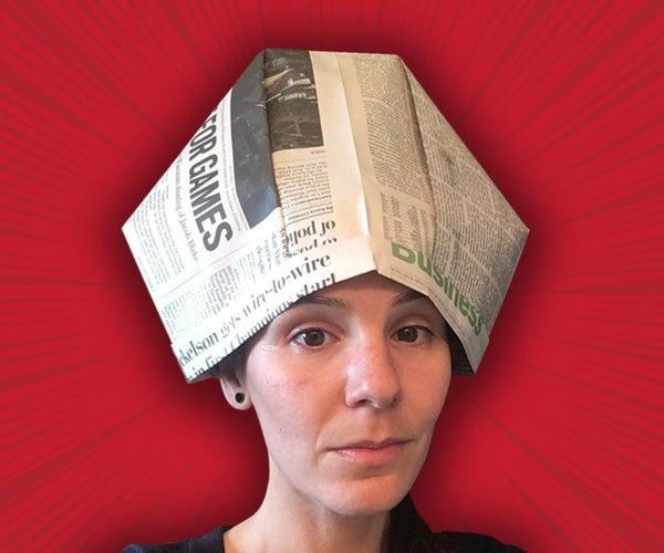Papal Tiara Paper Hat