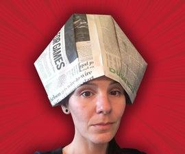 Papal Tiara Newspaper Hat