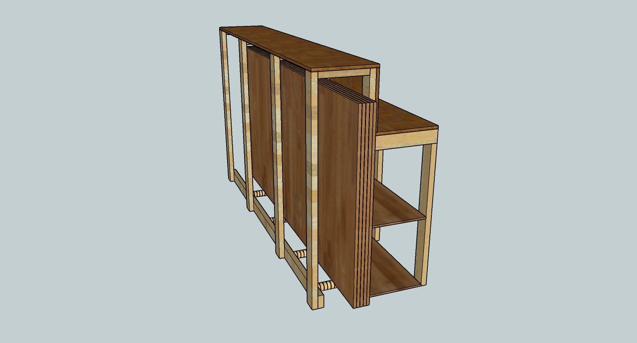 Rolling plywood / sheet storage - Made at Techshop