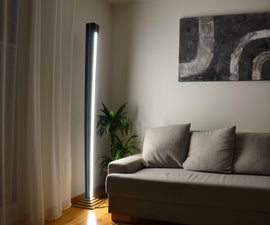 Golden Stripes - How to Make a Tall Floor Lamp