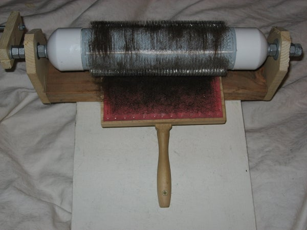 $50 Drum Carder (for Combing Fibers)