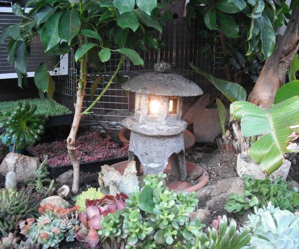 Make a Japanese Garden Lantern Out of Hypertufa