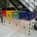 How to make a recycling bin out of soda boxes (and particle board)
