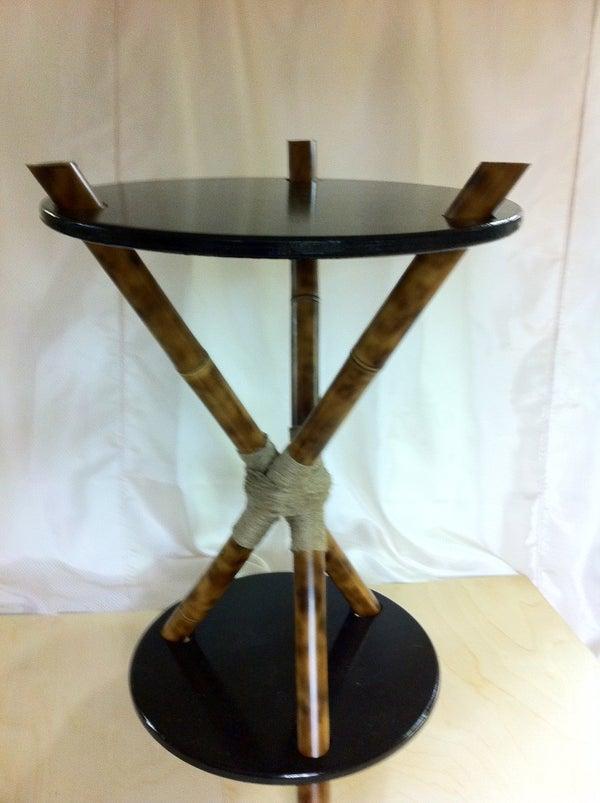 Make a 3-legged Bamboo Accent Table