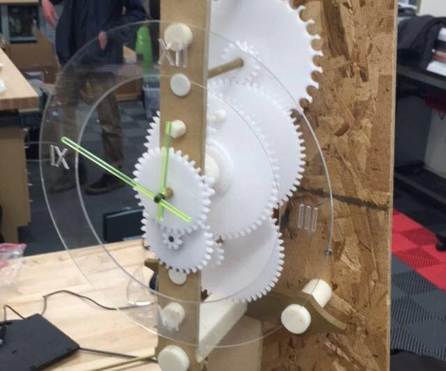 Acrylic Gravity Powered Clock