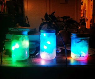 Programmable LED Firefly Jar