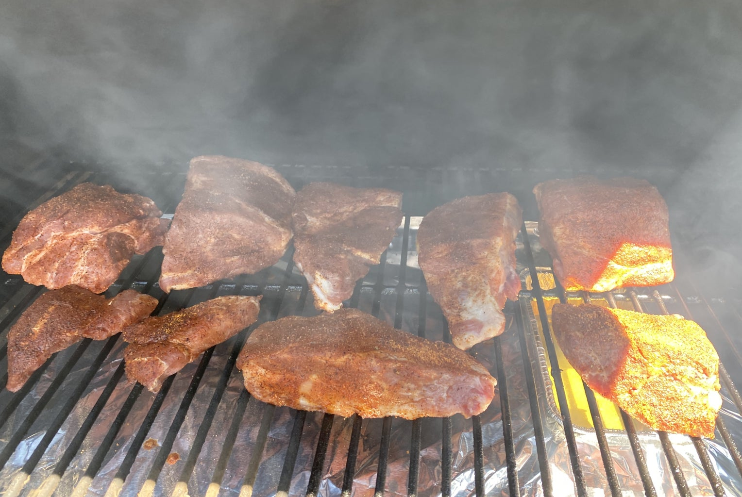 Use Your Favorite Rub and Place on Smoker