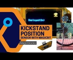 Bicycle Kickstand Position Sensor From Magicbit[Magicblocks]