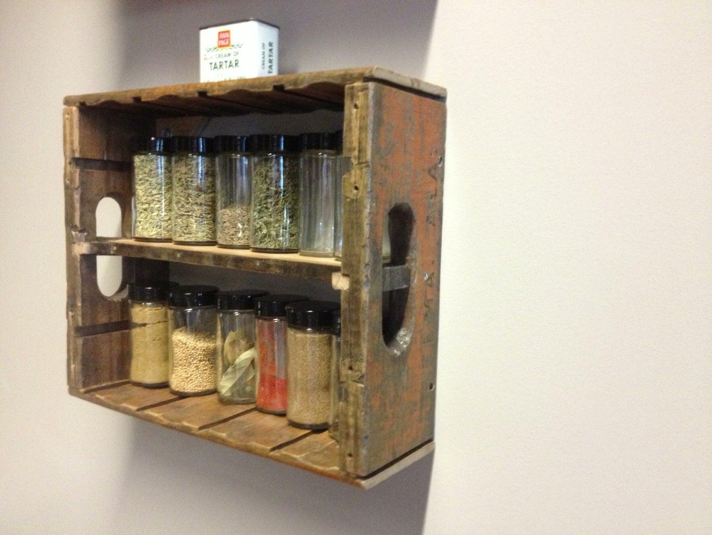 Soda Crate Spice Rack