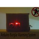 Glowing LED Burglar Alarming System