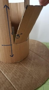 Create a Wider Area at the Top of the Hat