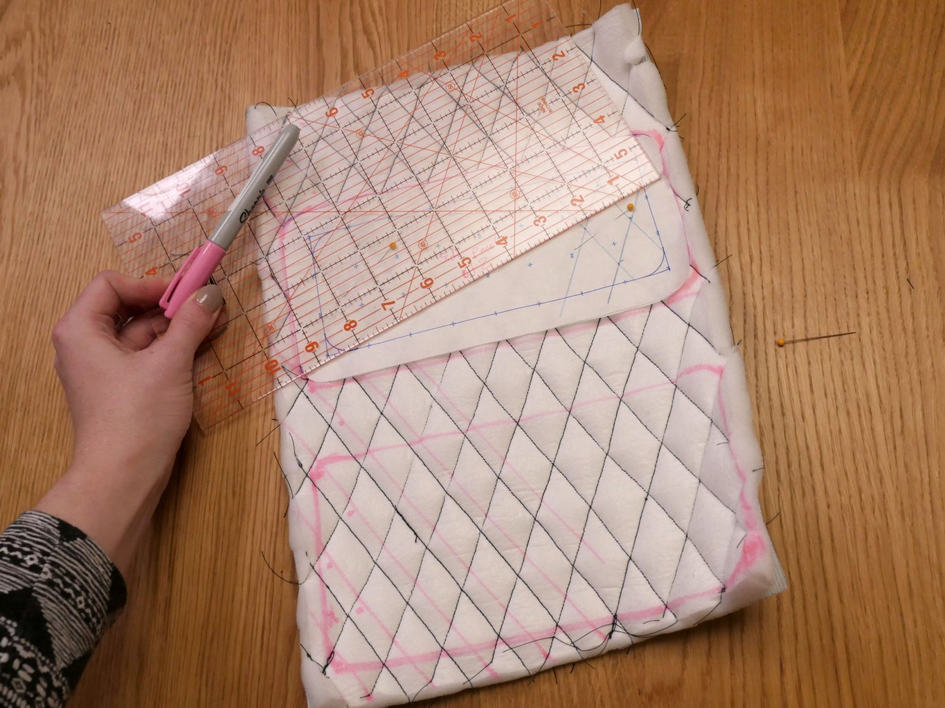 Cut Quilted Pieces