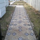 "A Backyard Path that says ""We're going Places"""