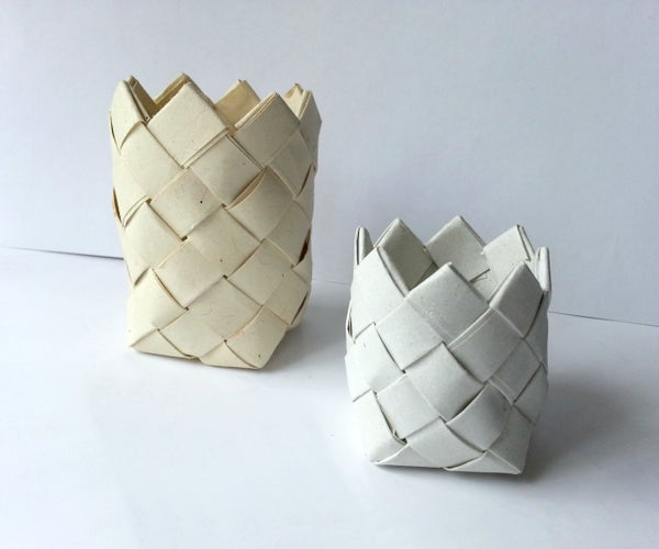 DIY Recycled Paper Baskets