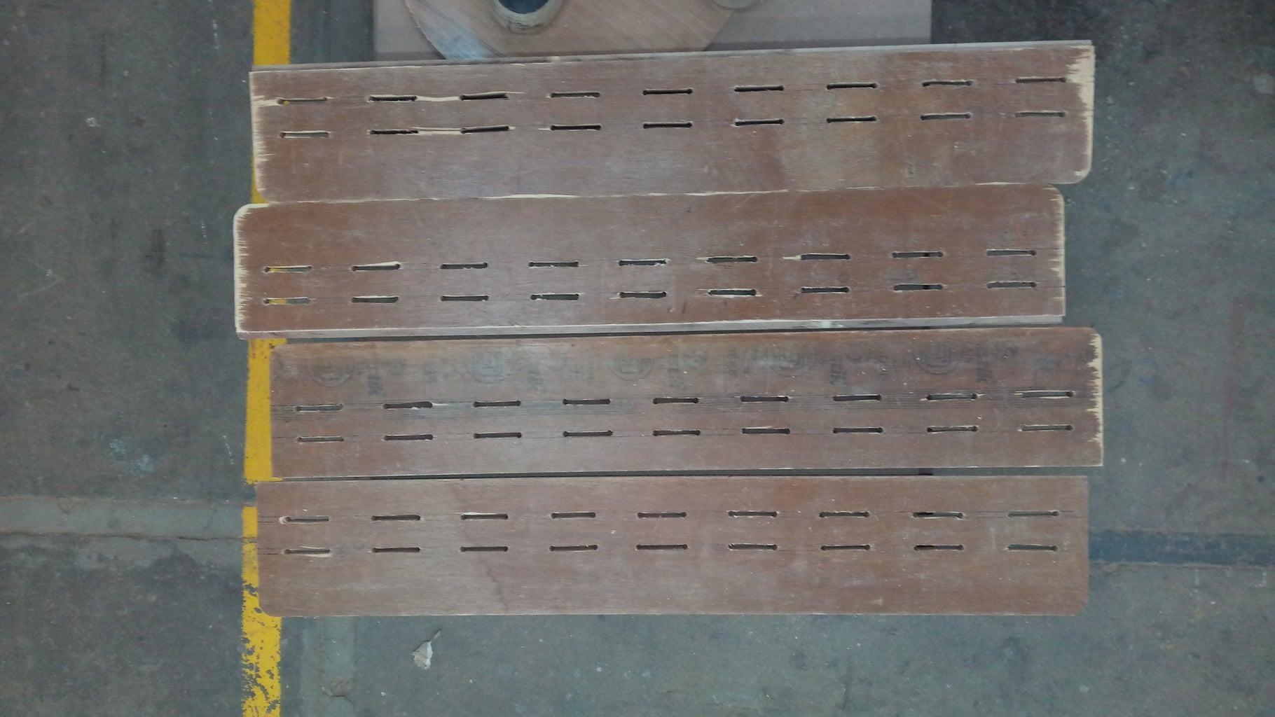 Side Panels: Slits for Weaving