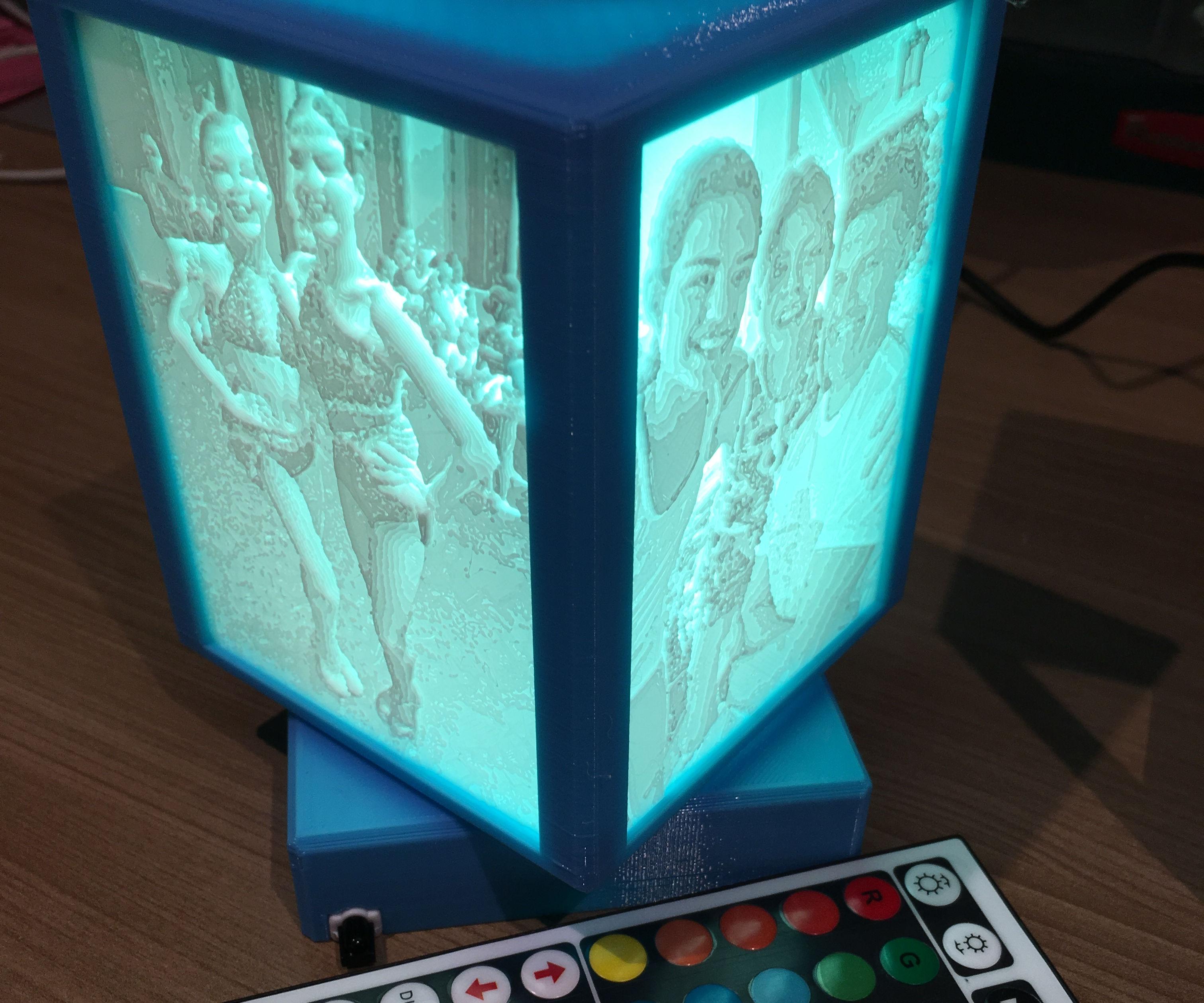 Rotating Lithophane Box