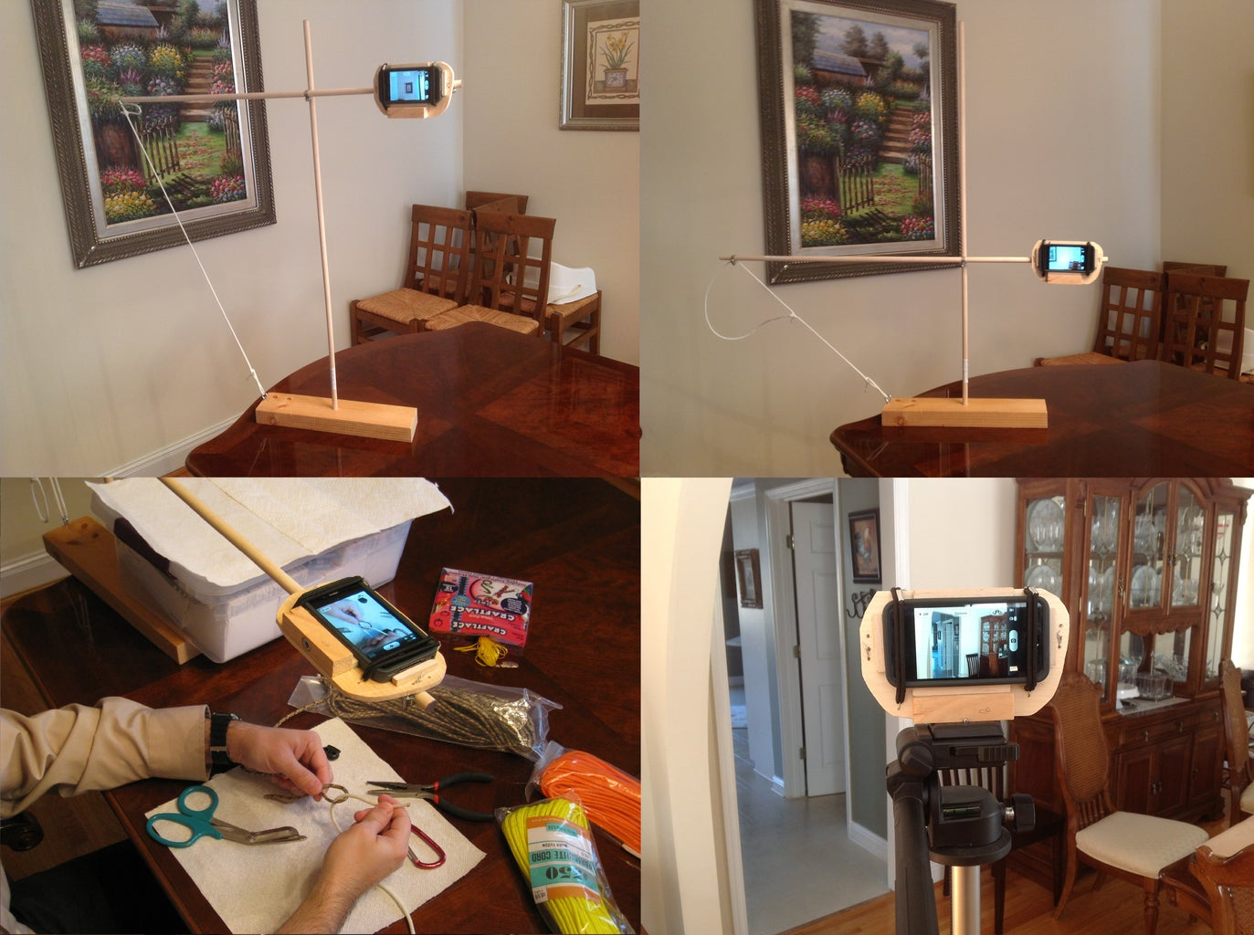 How to Make a Cell Phone / IPhone Camera Boom and Tripod