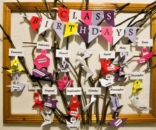 Origami Classroom Birthday Board
