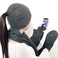 4-In-1 Hat Glove Scarf Mittens