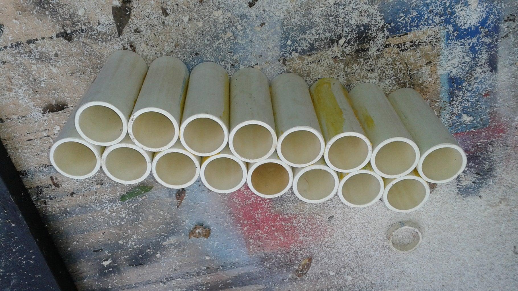 Glueing the PVC
