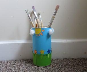 DIY Paintbrush Holder Can