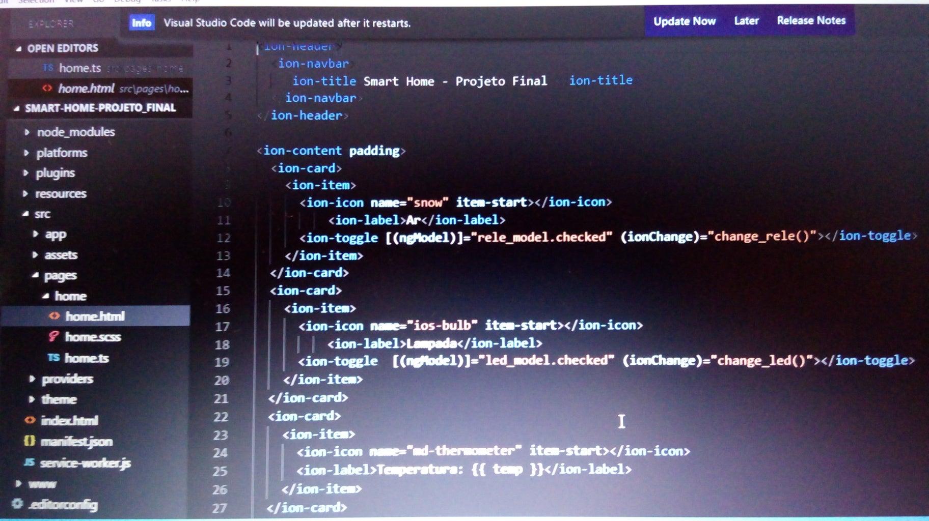 Desenvolvimento Do Aplicativo Com Ionic