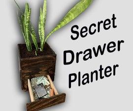 Secret Drawer Wood Planter
