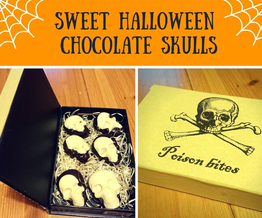 Sweet Halloween Chocolate Skulls